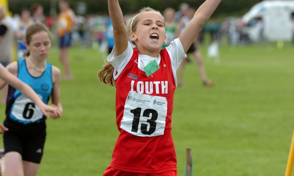 Amy McTeggart wins at National Athletics Finals (Mosney, August 2007)