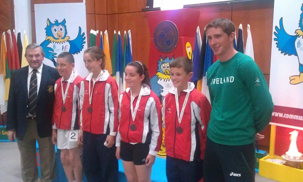 Ardee / Collon relay team (Conor McMahon, Naoise McConnon, Niamh Tenanty, Jonathan Commins) at National Athletics Finals (Athlone, August 2012)