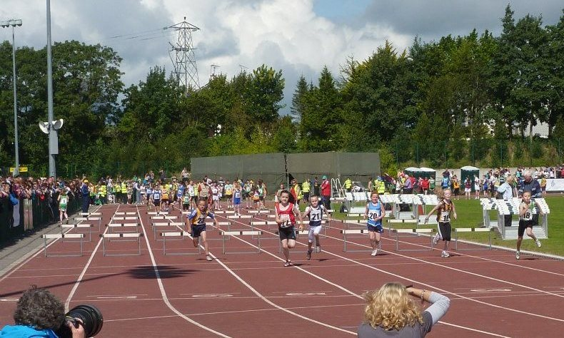 Kate Kelly wins her heat at National Athletics Finals (Athlone, August 2012)