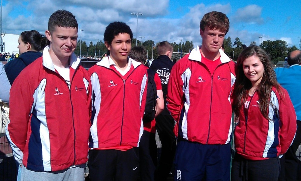 Keith Dunne, Martin McGrane, Mark Rogers & Lauren Finegan at National Athletics Finals (Athlone, August 2012)