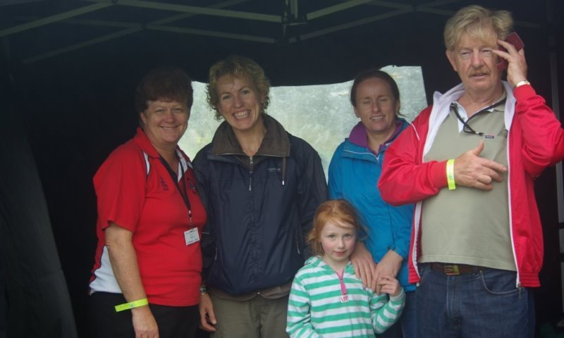 Team managers and family members at National Athletics Finals (Athlone, August 2013)