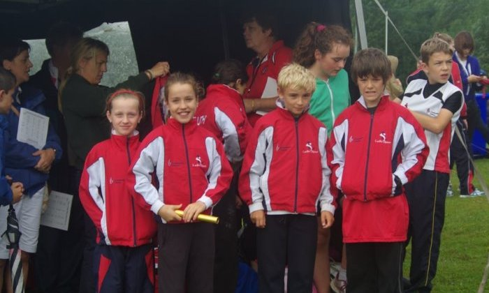 Getting ready to compete at National Athletics Finals (Athlone, August 2013)